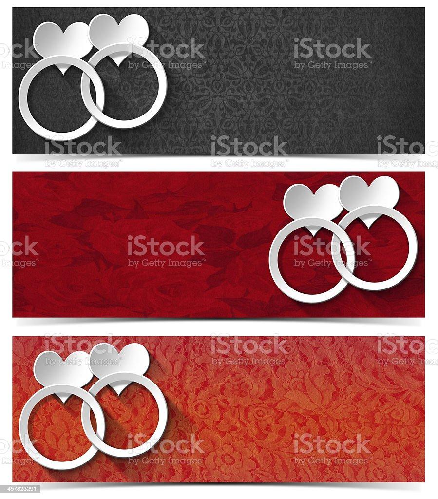 Three Love Banners royalty-free stock vector art