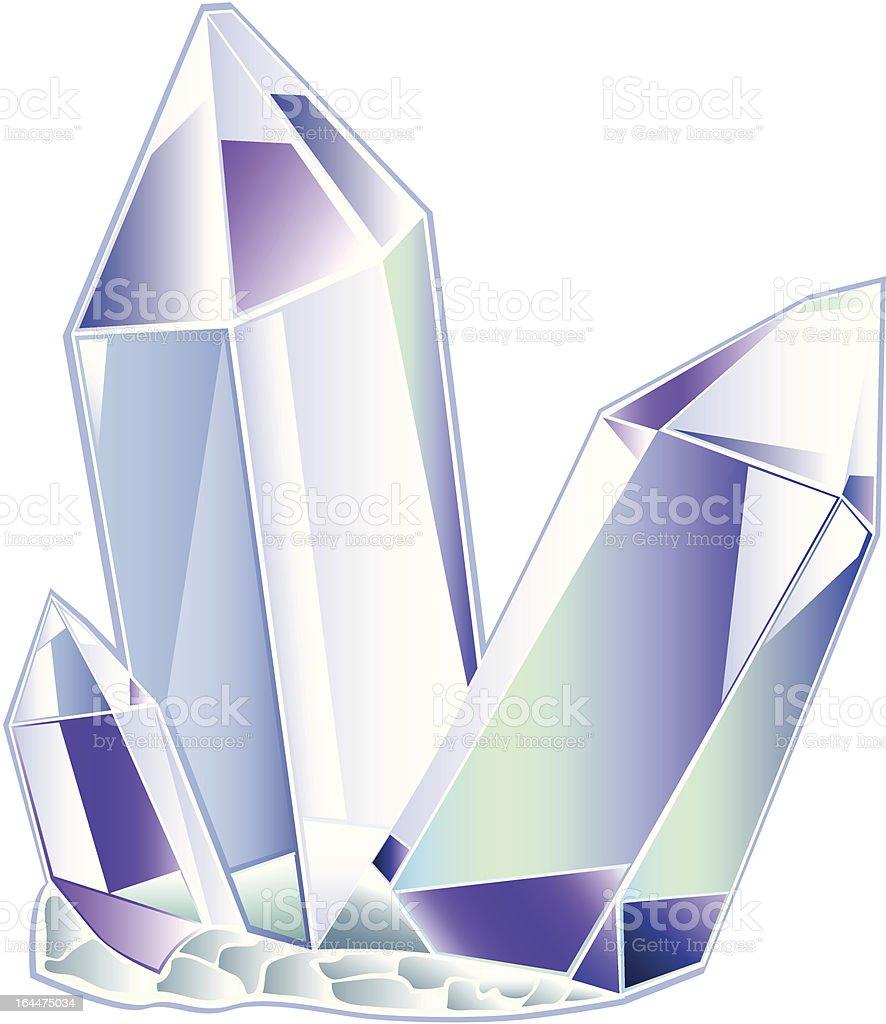 three quartz crystal royalty-free stock vector art