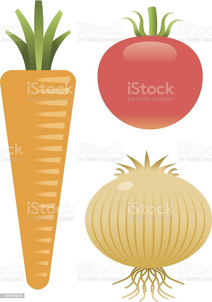 Three vegetables royalty-free stock vector art