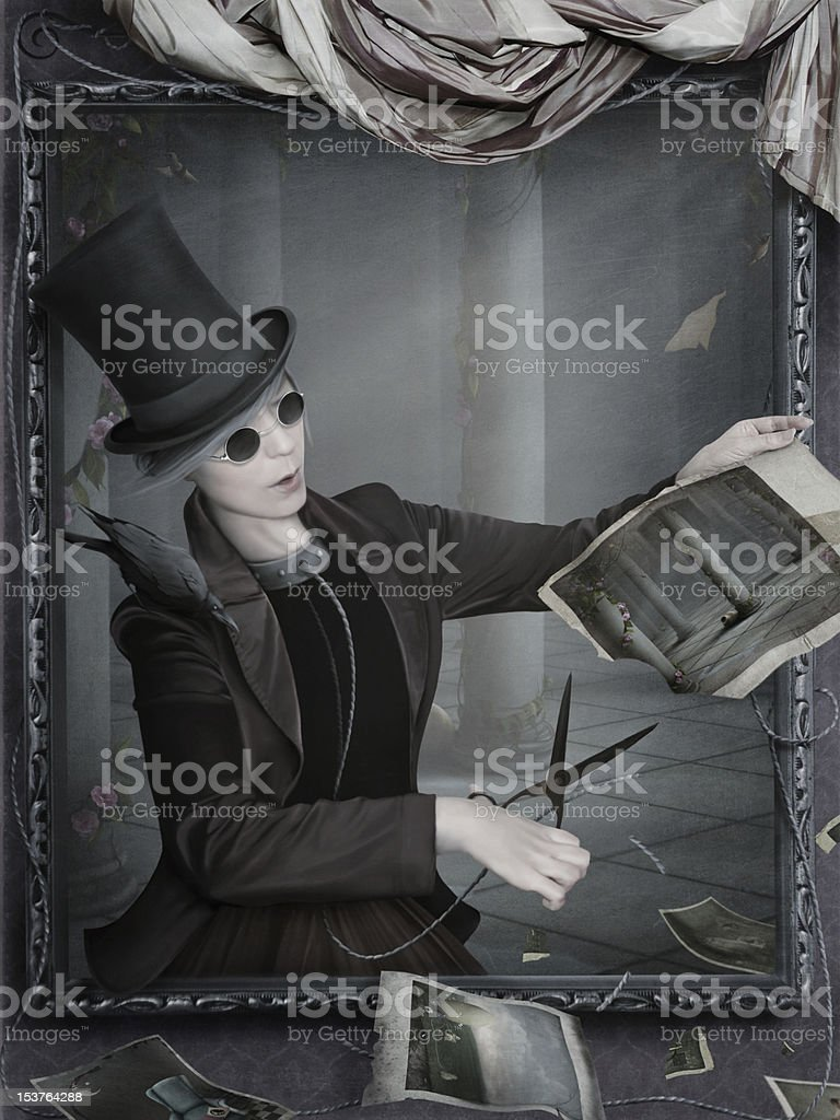 Through the Looking Glass royalty-free stock vector art