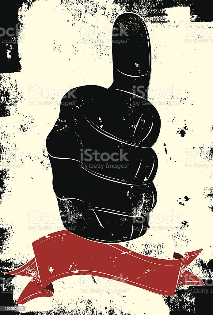Thumbs up hand sign royalty-free stock vector art
