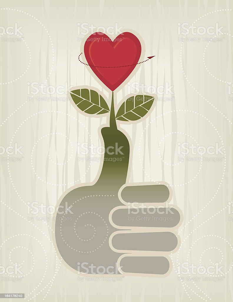 Thumbs Up Heart Icon royalty-free stock vector art