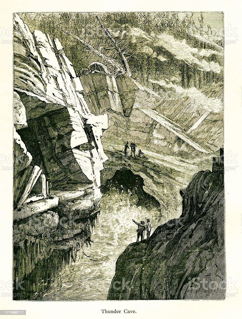 Thunder Cave, Mount Desert, Maine royalty-free stock vector art