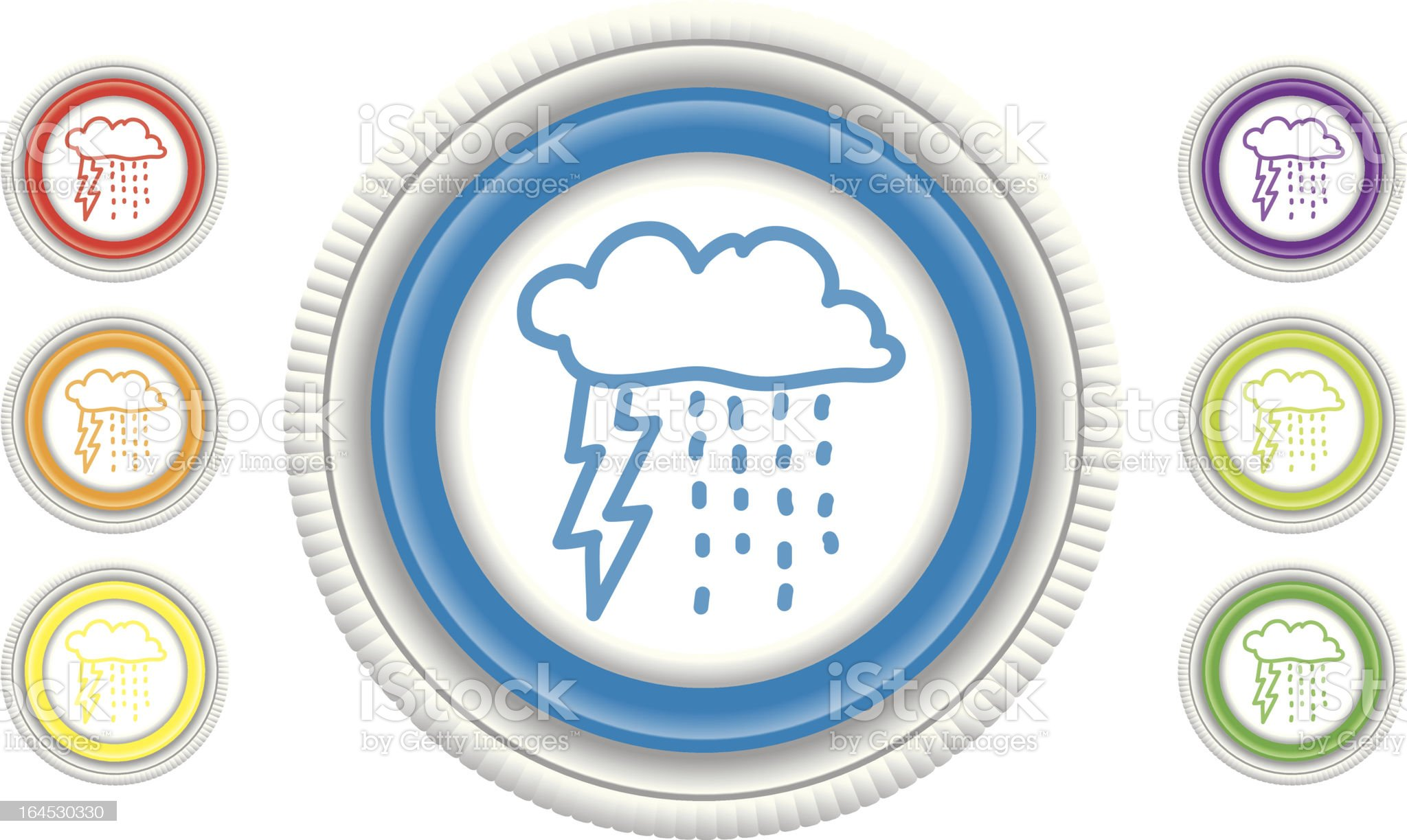 Thunderstorm royalty-free stock vector art