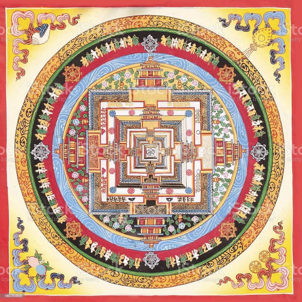 Tibetan Mandala vector art illustration