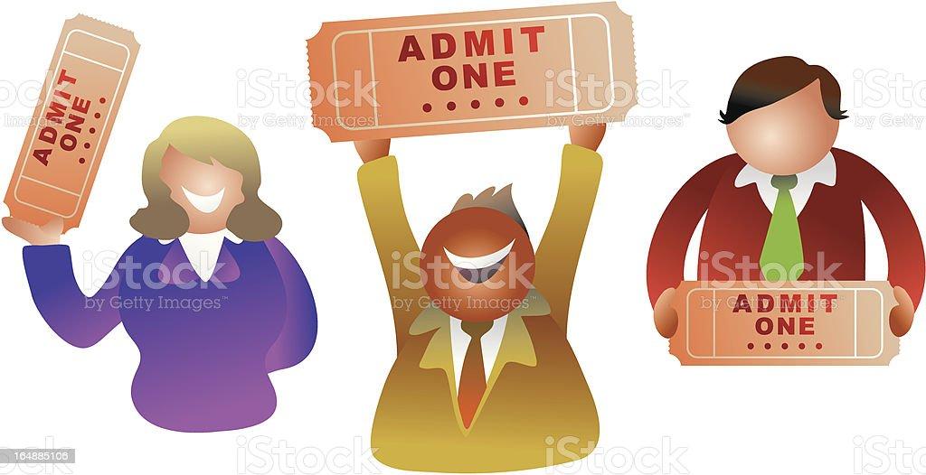 ticket people royalty-free stock vector art