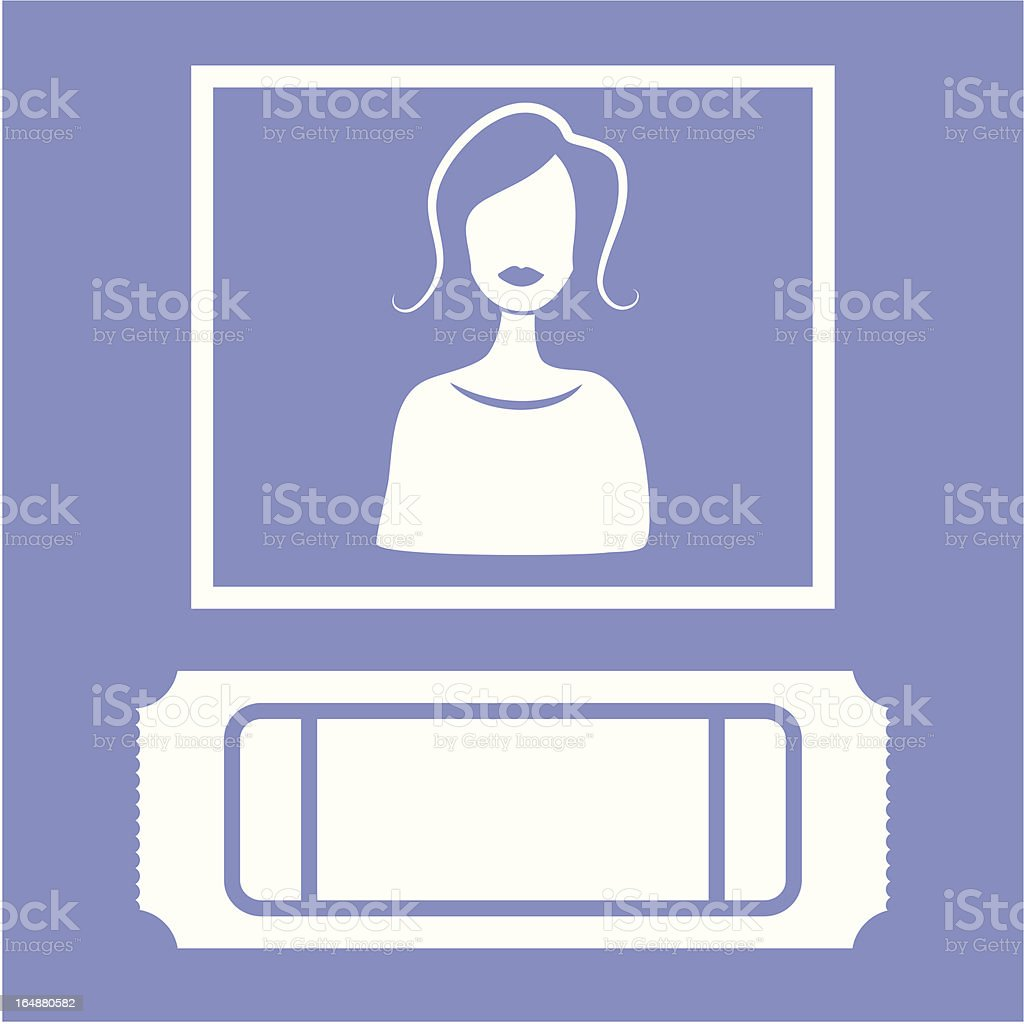 Ticket Sales Icon vector art illustration