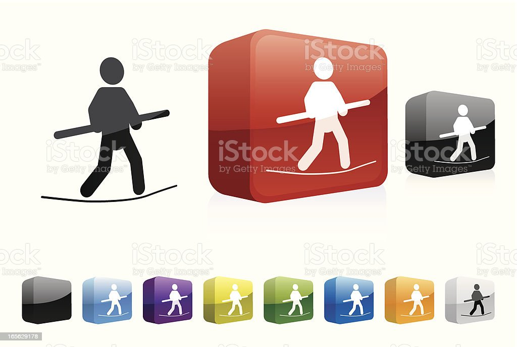 TightRope | 3D Collection vector art illustration