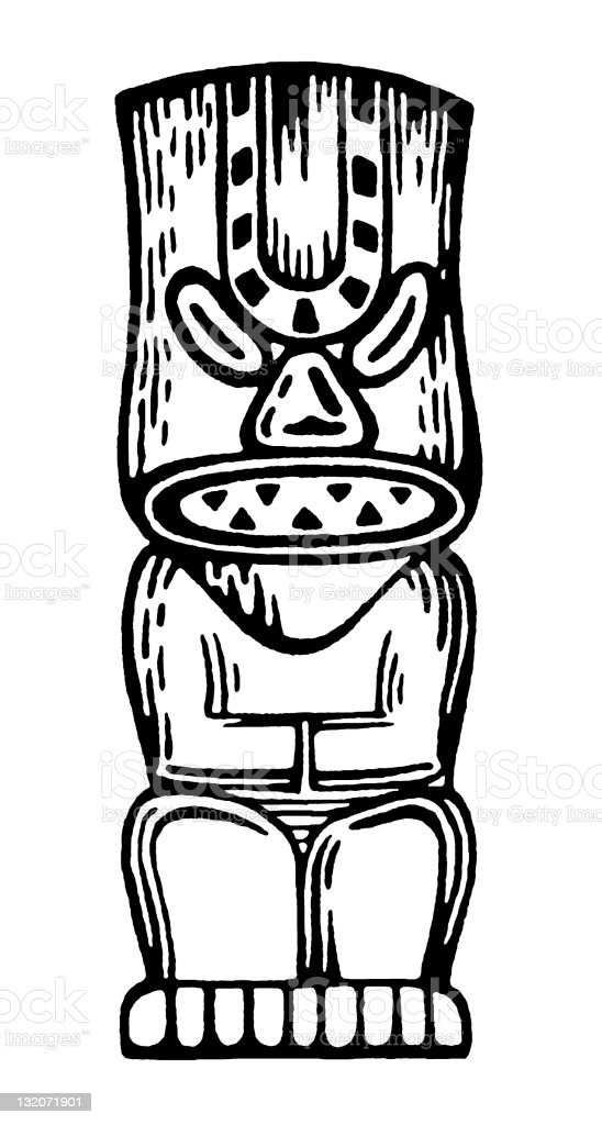 Tiki Man royalty-free stock vector art