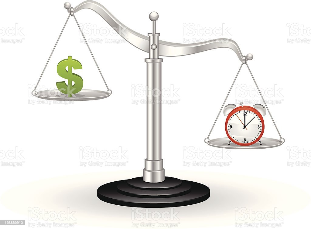 Time And Money In Balance royalty-free stock vector art