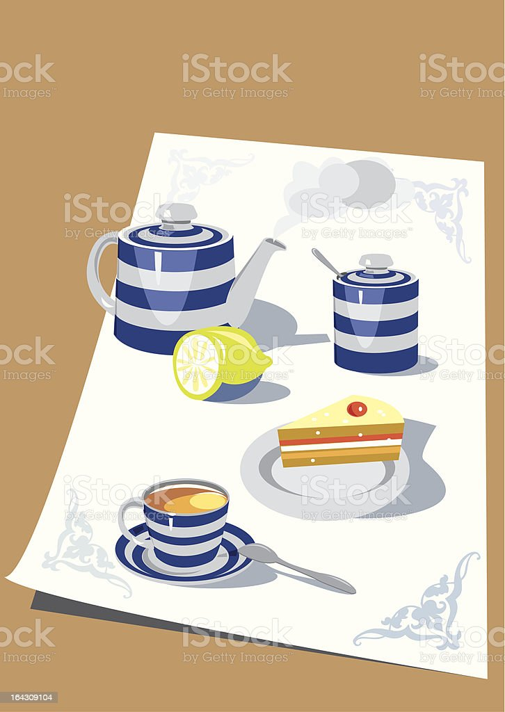 Time for tea royalty-free stock vector art