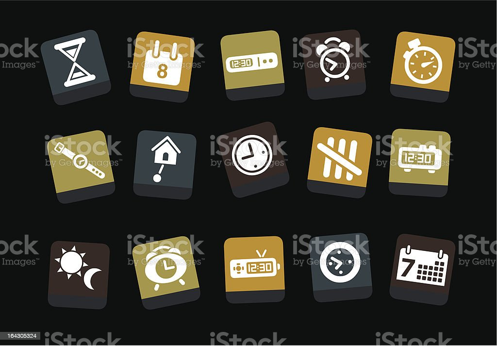 Time Icon Set royalty-free stock vector art
