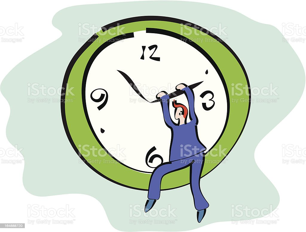 time keeper royalty-free stock vector art