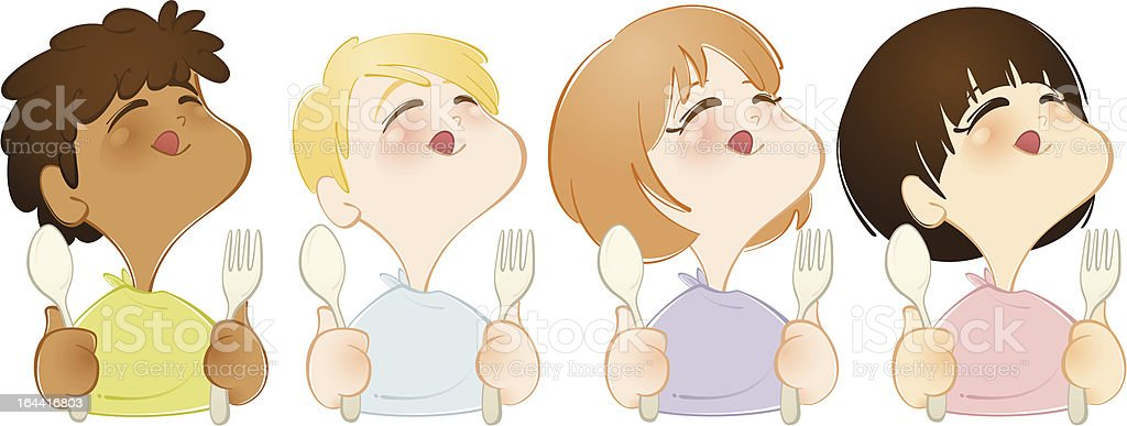 Time to eat vector art illustration