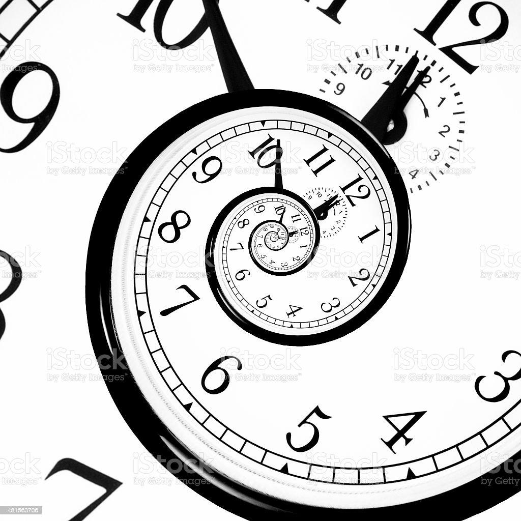 Time Warp - Time Dilation. Quantum mechanics meets general relativity. vector art illustration