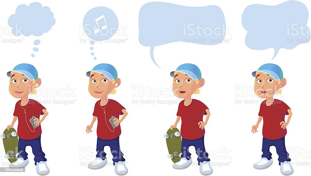 Timmy Four Times royalty-free stock vector art