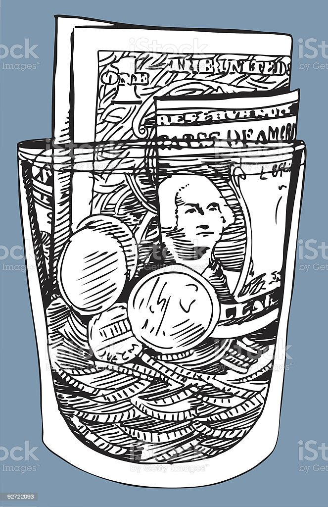 Tip Jar royalty-free stock vector art