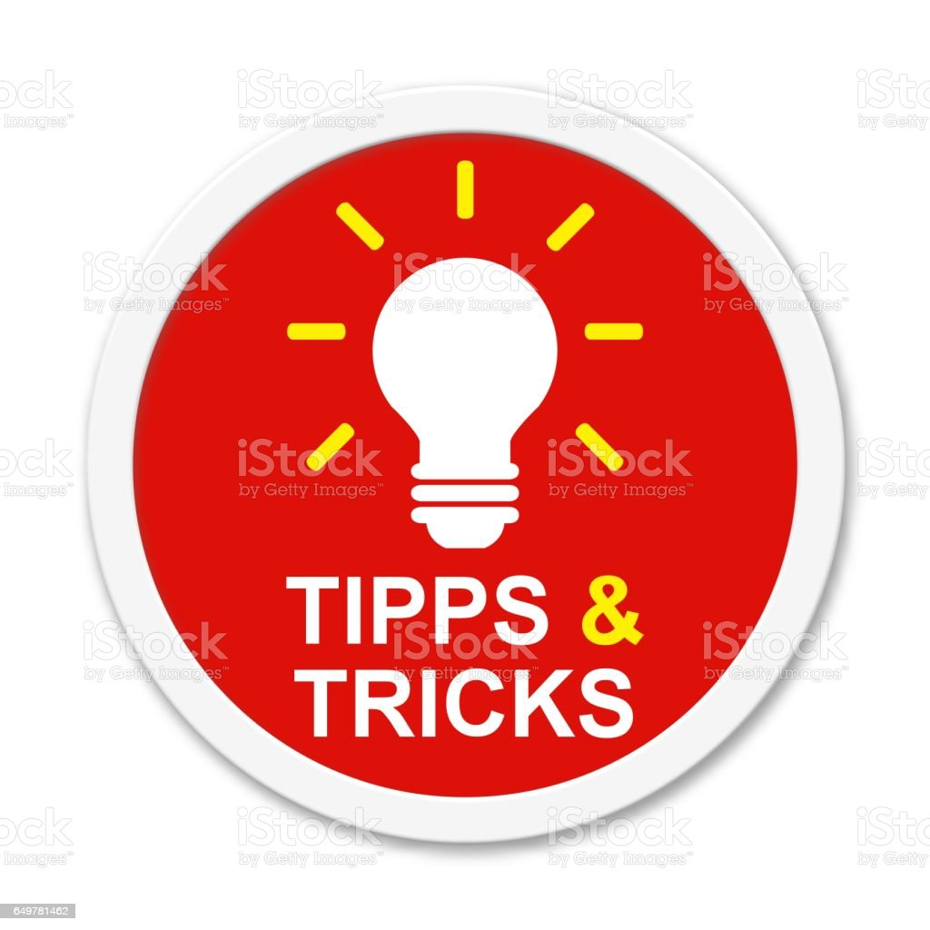 Tips and Tricks Button german vector art illustration