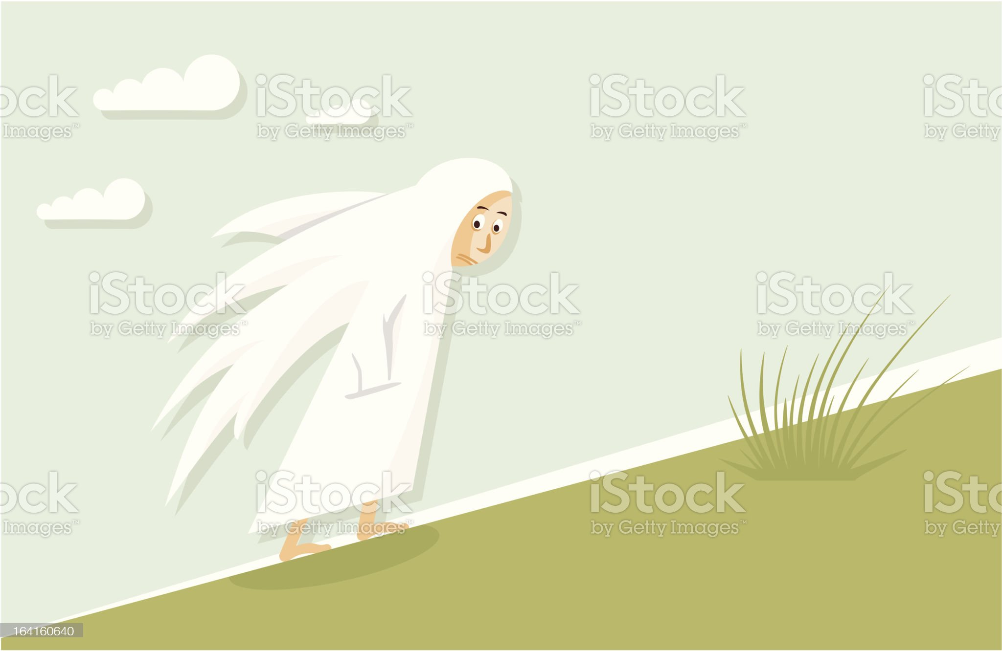 Tired angel royalty-free stock vector art