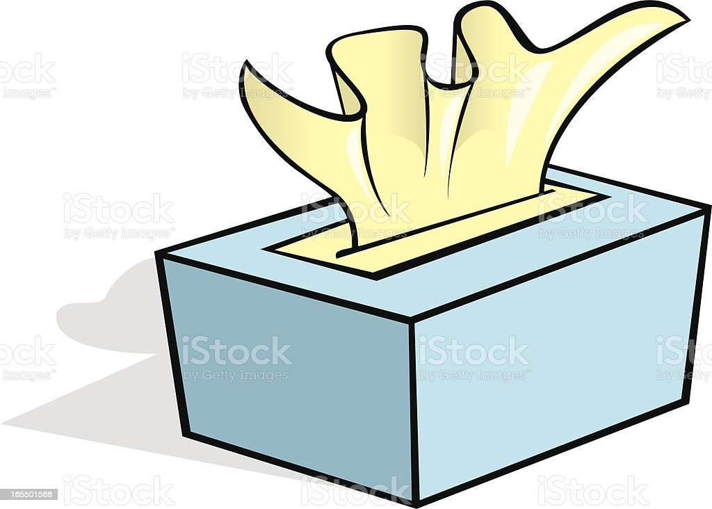 tissue box royalty-free stock vector art