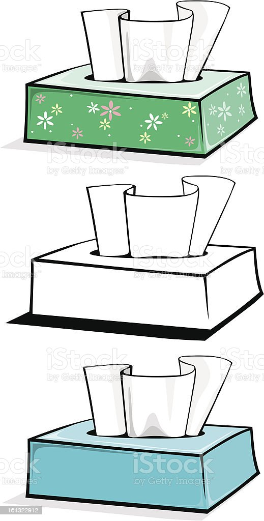 tissue boxes royalty-free stock vector art