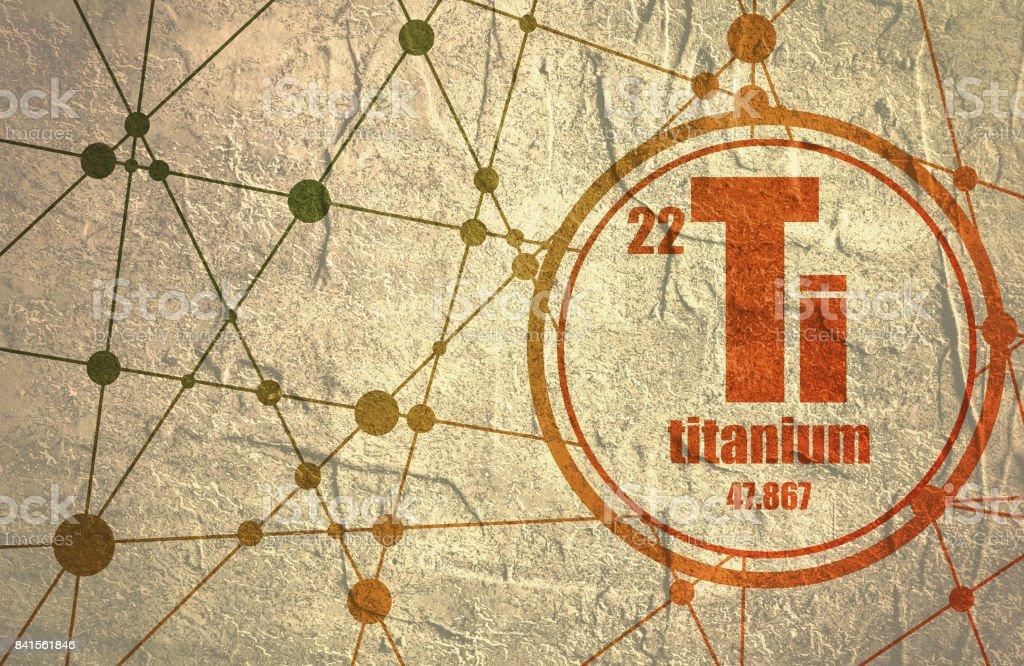 Titanium chemical element. vector art illustration