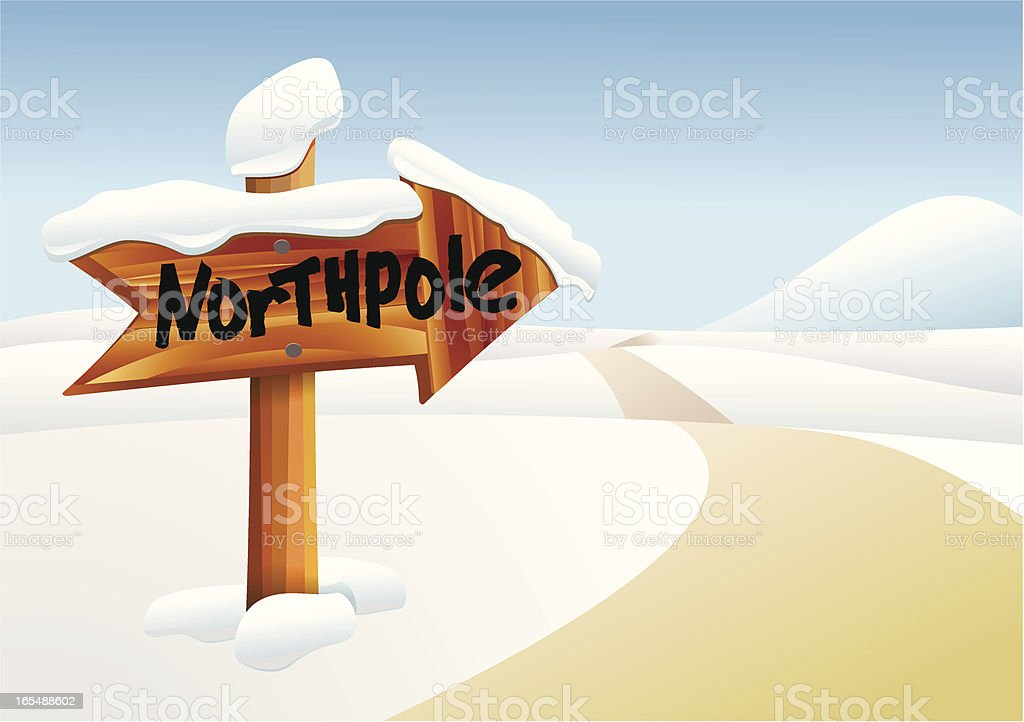 To the Northpole royalty-free stock vector art