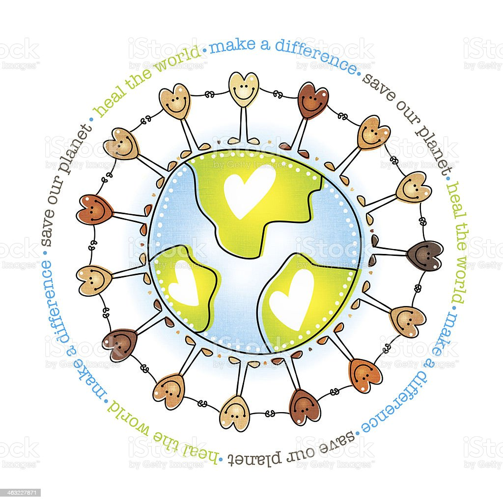 Together We Can All Make A Difference royalty-free stock vector art