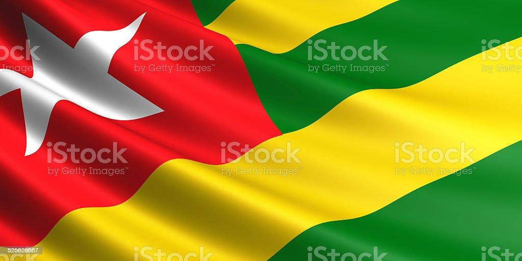 Togo flag. royalty-free stock vector art