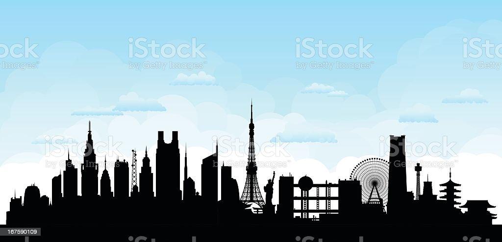 Tokyo vector art illustration