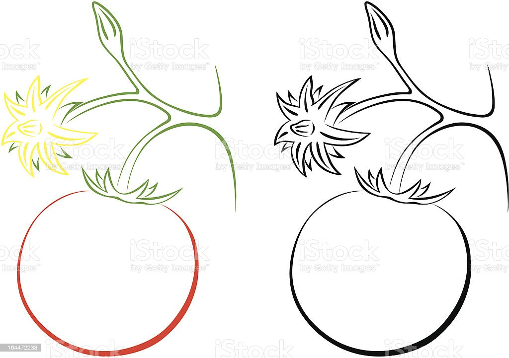 tomato royalty-free stock vector art