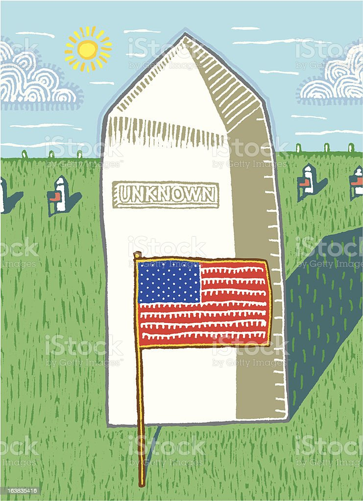 Tomb of an Unknown Soldier vector art illustration