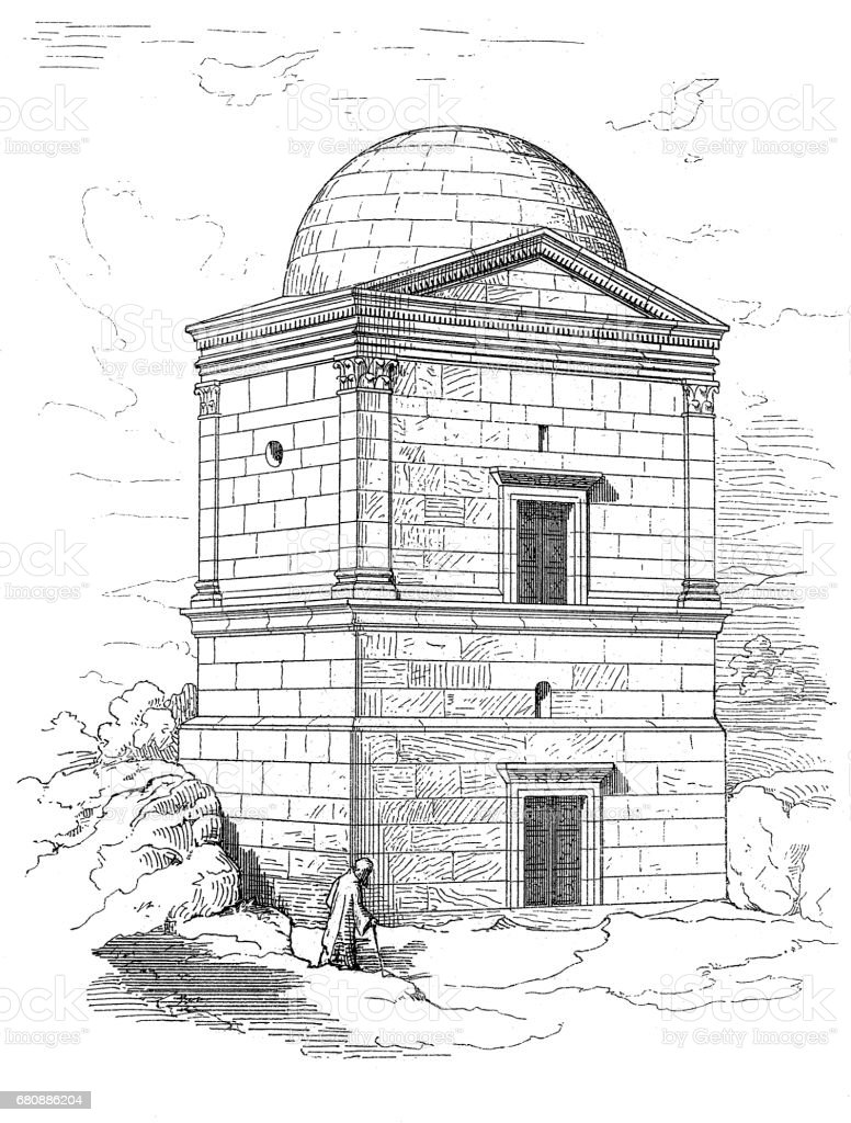 Tomb of Hafs vector art illustration