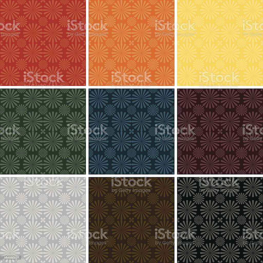 Tonal Pinwheel Pattern (Seamless) royalty-free stock vector art