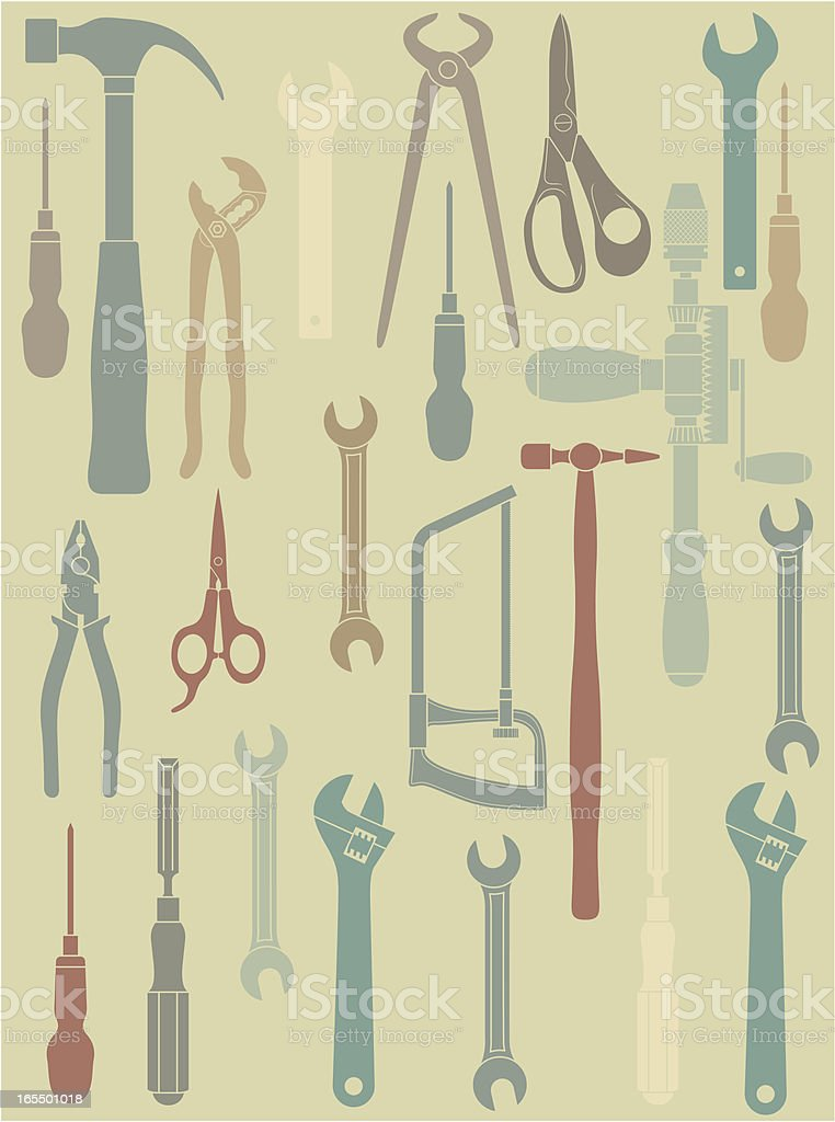 Tool background vector art illustration