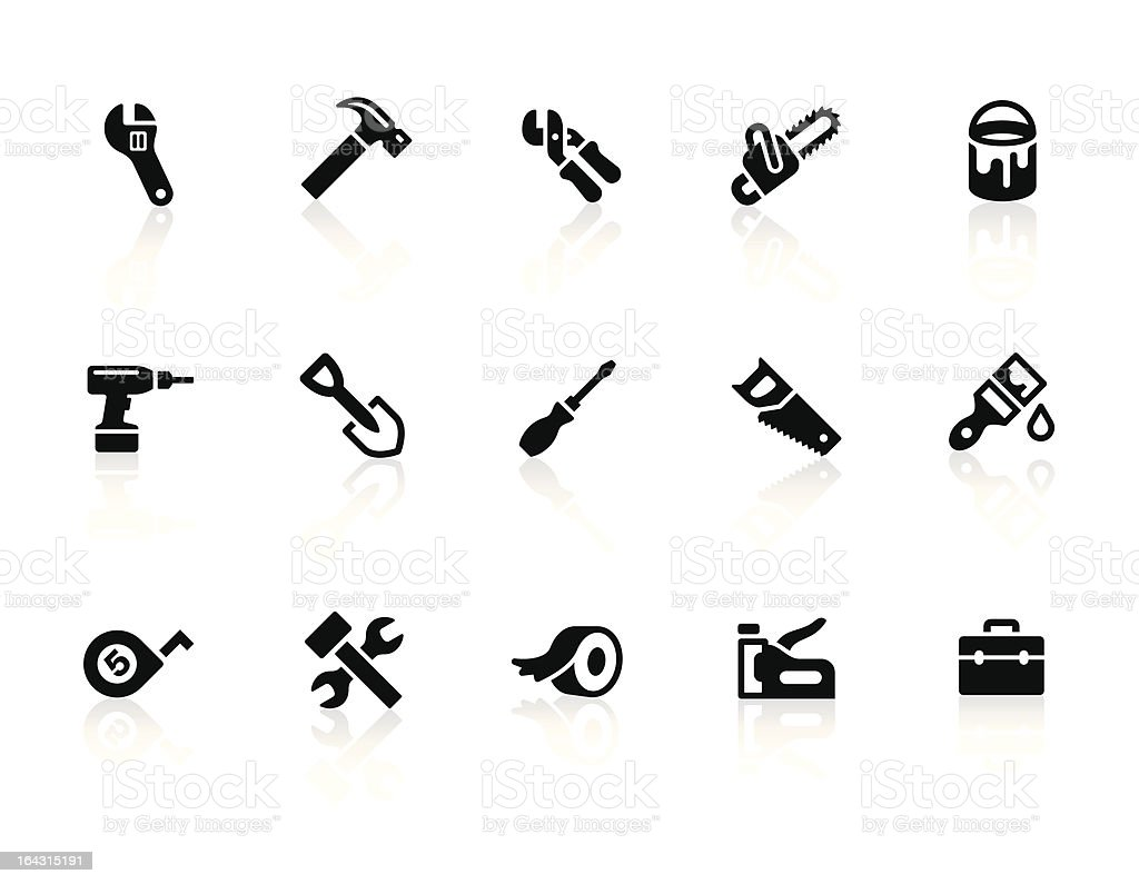 Tool icons vector art illustration
