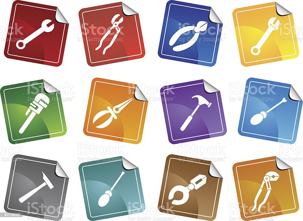 Tool Stickers royalty-free stock vector art