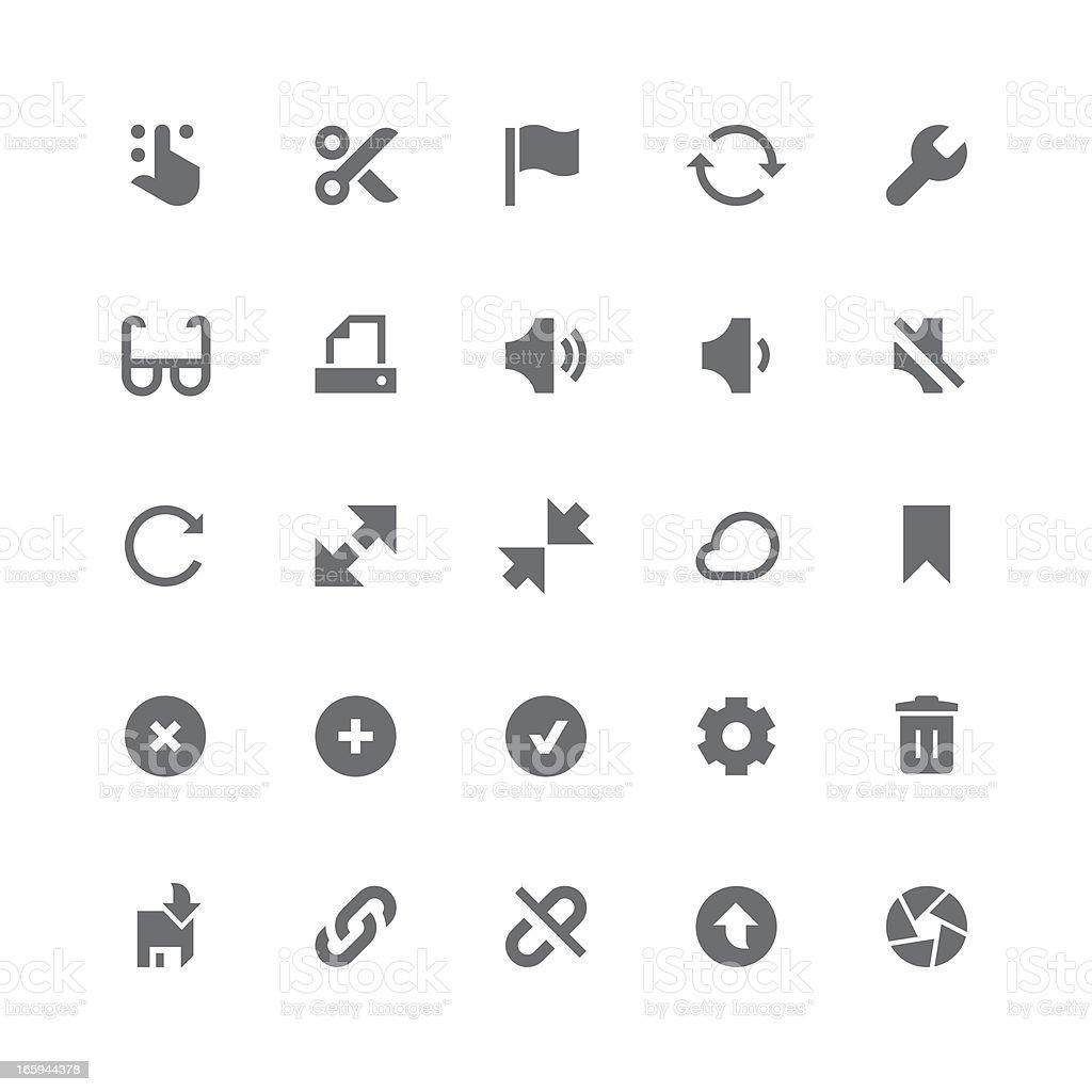 Toolbar & Interface icons | retina series vector art illustration