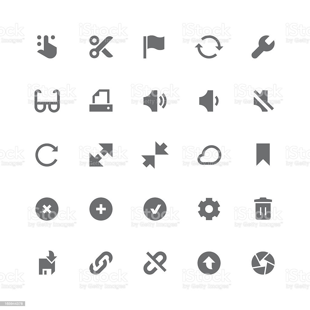 Toolbar & Interface icons | retina series vector art illustration