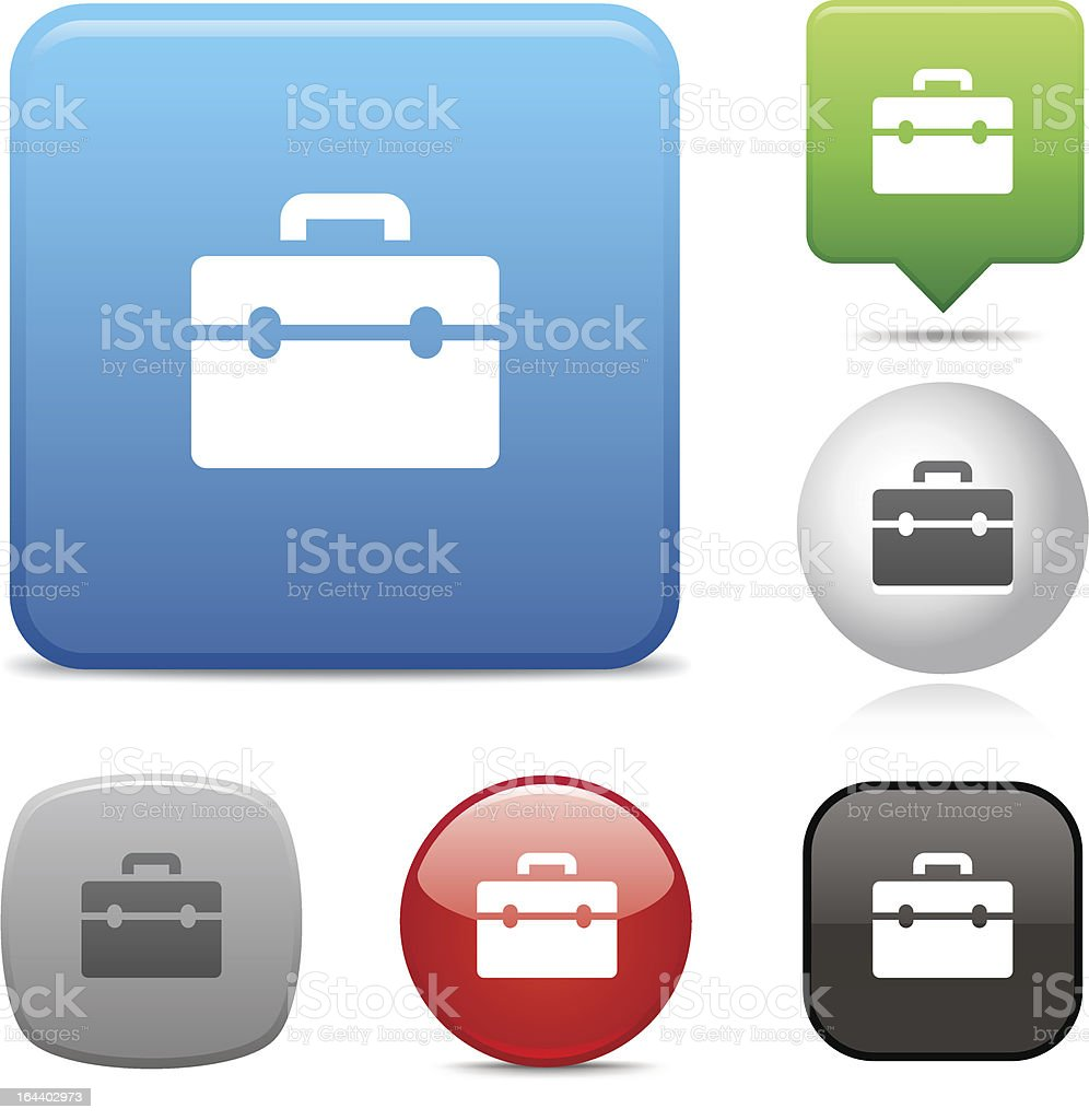Toolbox icon vector art illustration