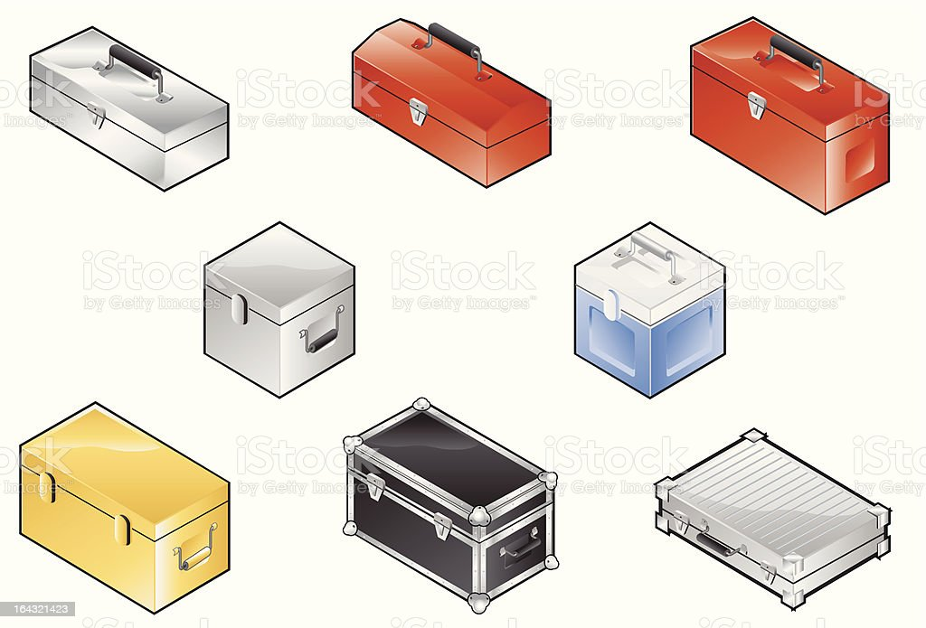 Toolbox icons royalty-free stock vector art