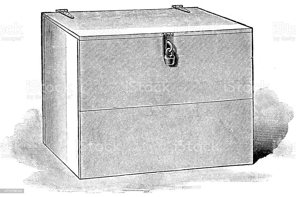toolbox vector art illustration