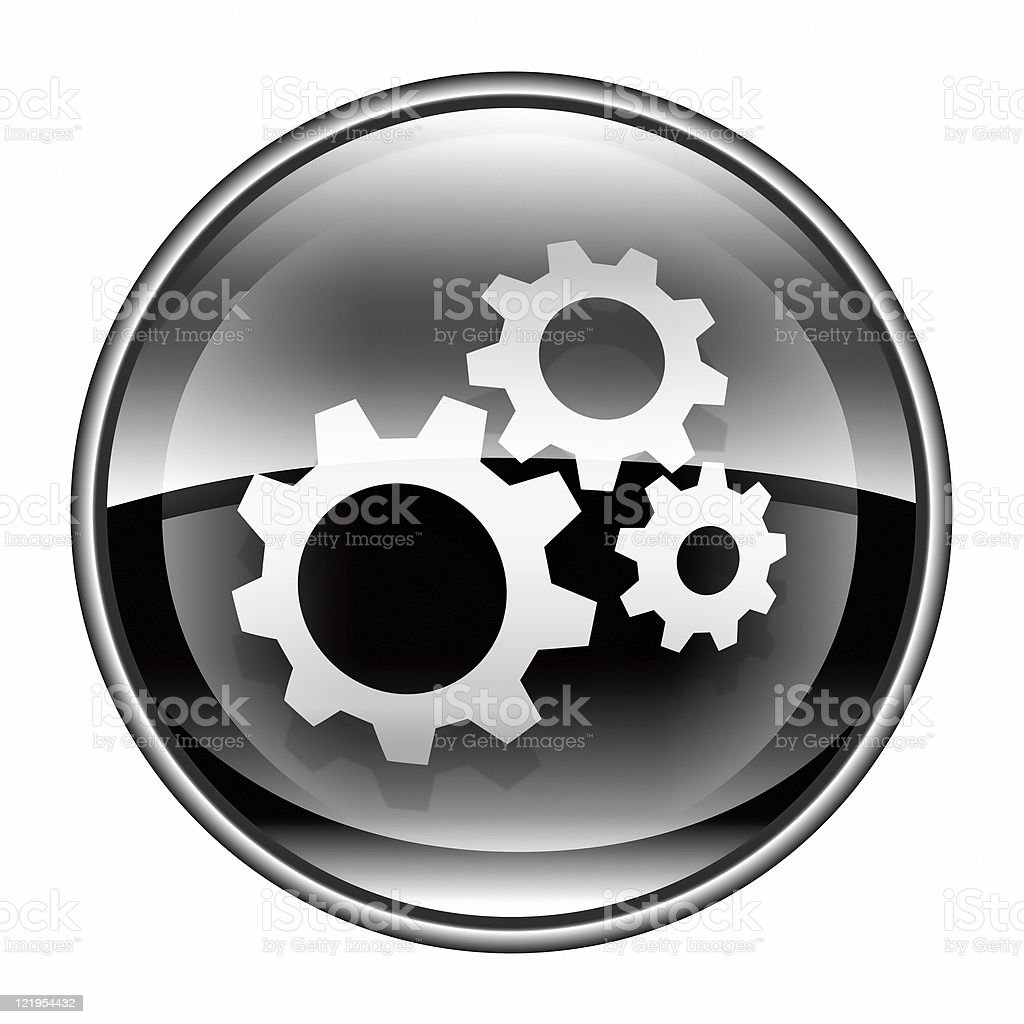 Tools icon black, isolated on white background. royalty-free stock vector art
