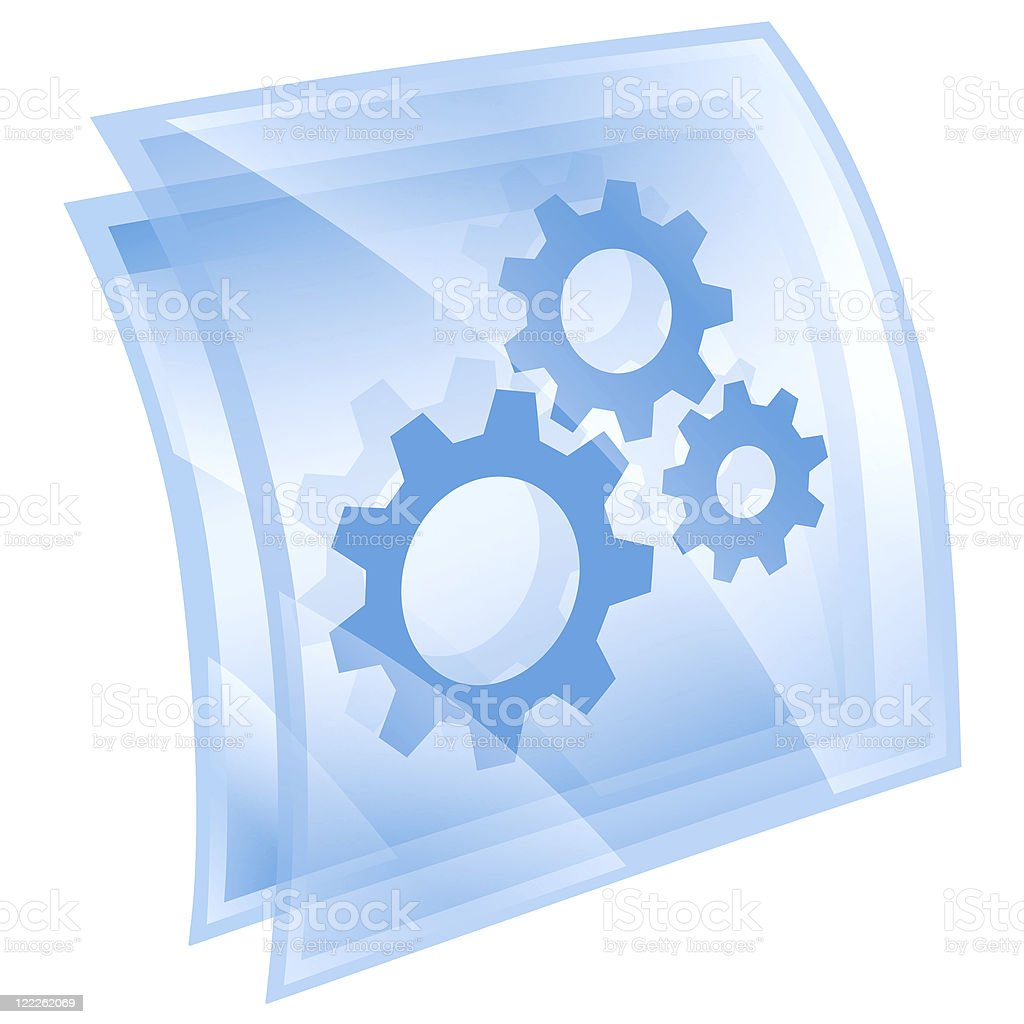 Tools icon blue square, isolated on white background royalty-free stock vector art