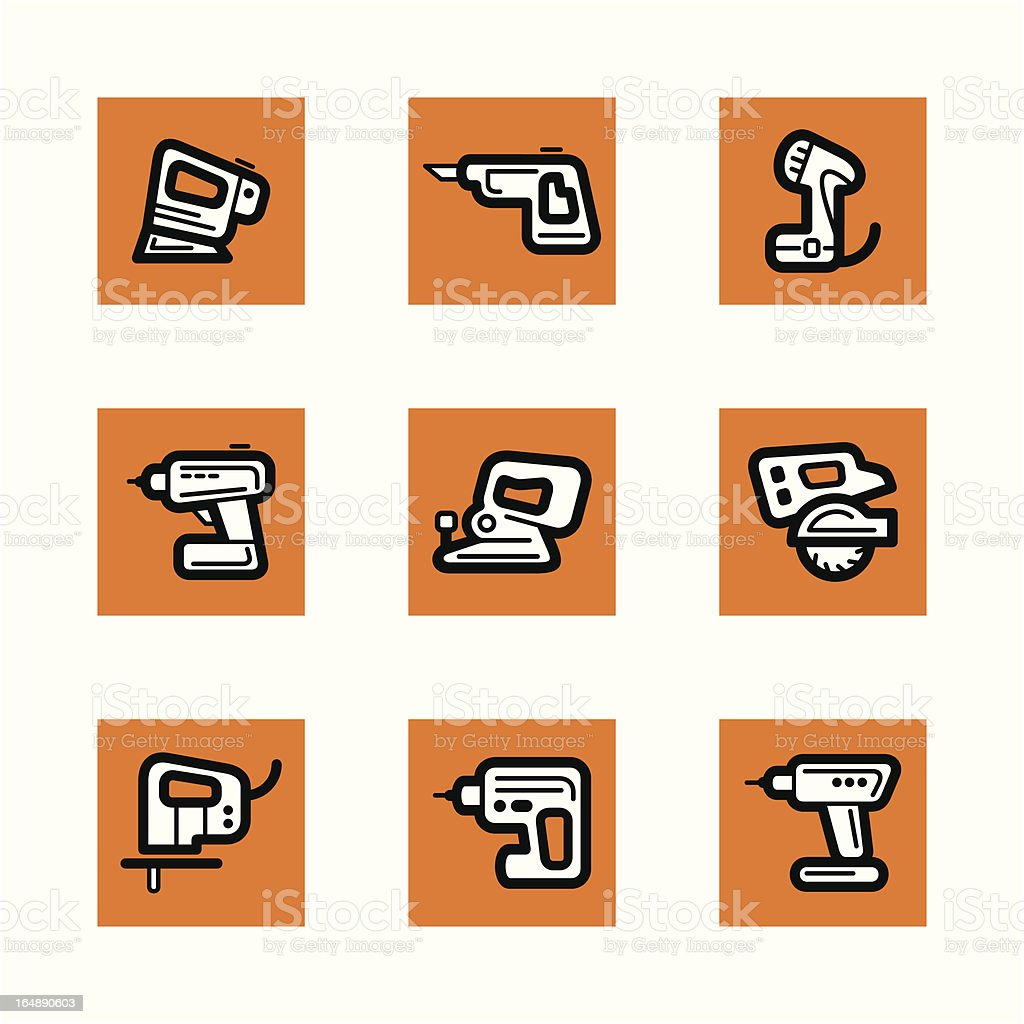 Tools Icons Series vector art illustration