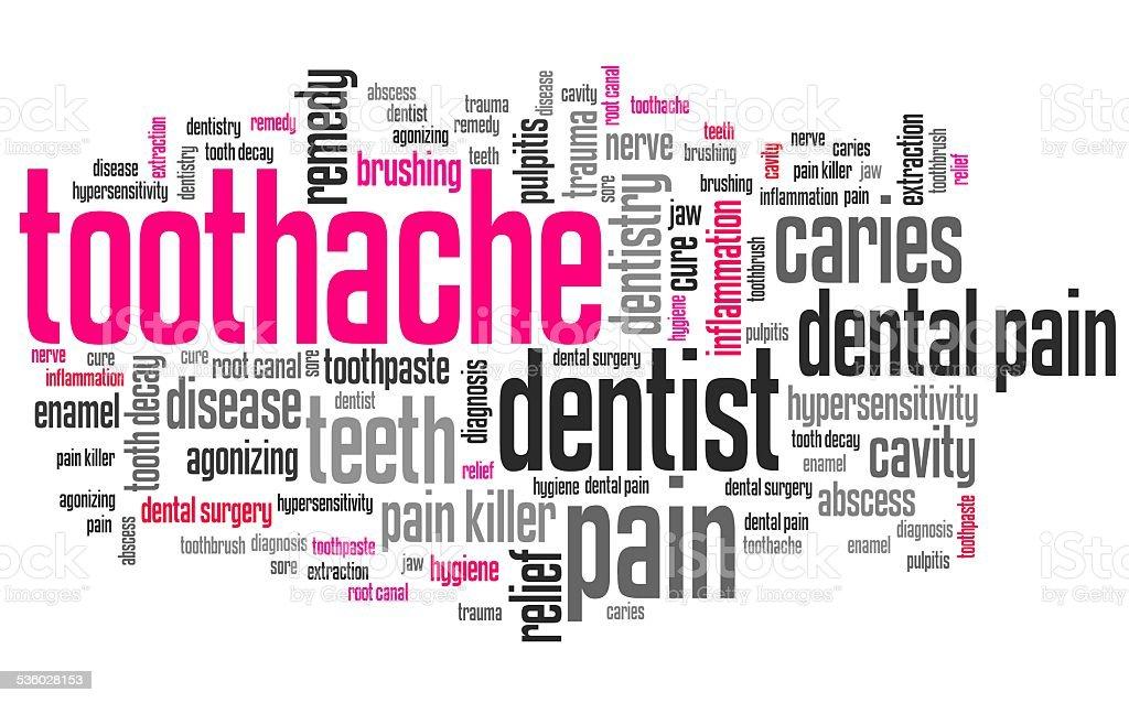 Toothache vector art illustration
