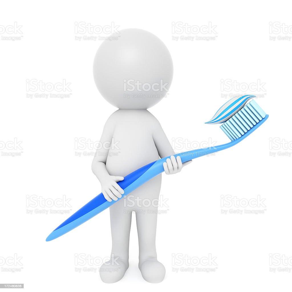Toothbrush royalty-free stock vector art