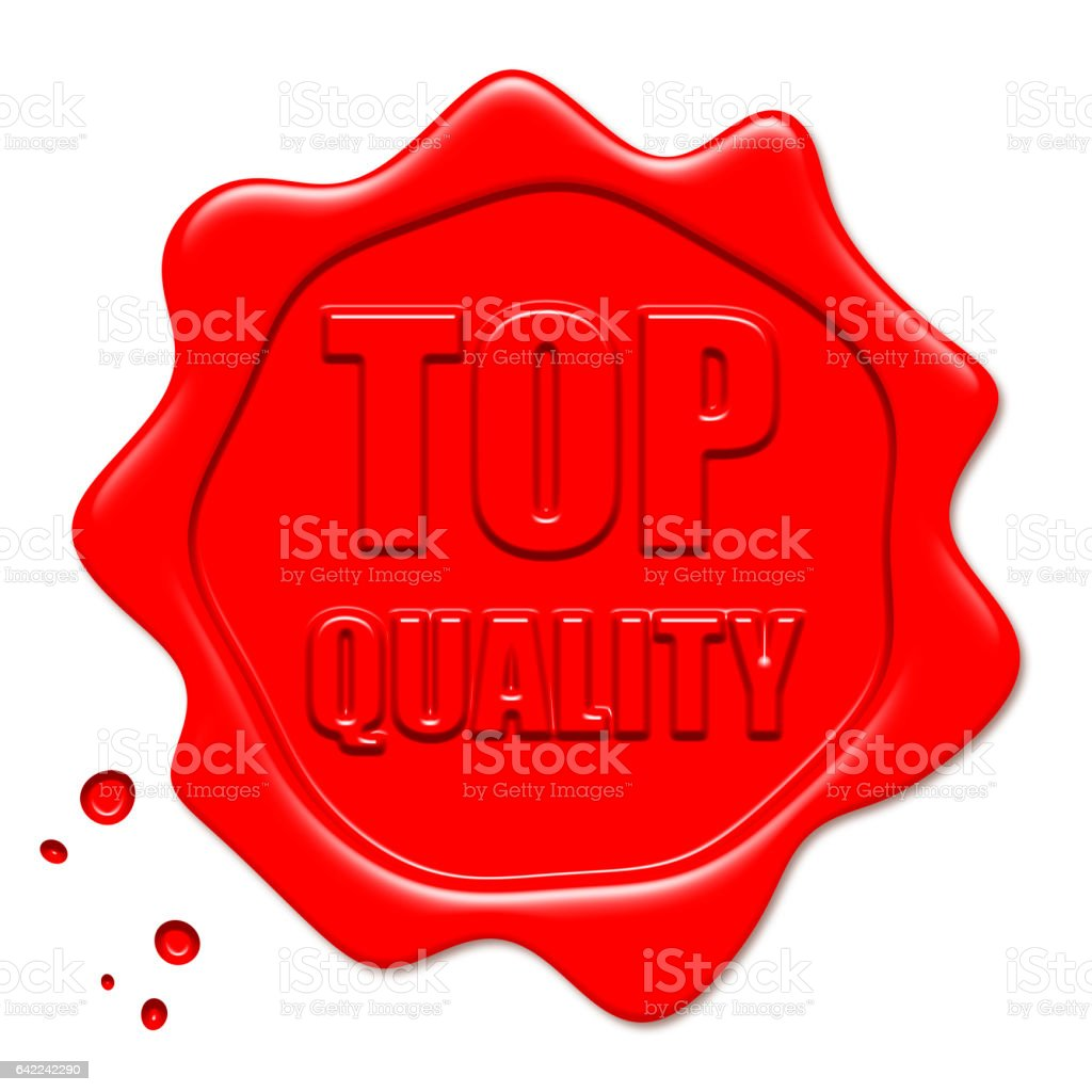 Top Quality Red Wax Seal vector art illustration