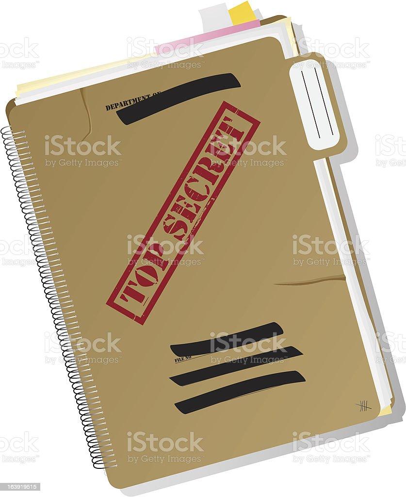 Top secret folder royalty-free stock vector art