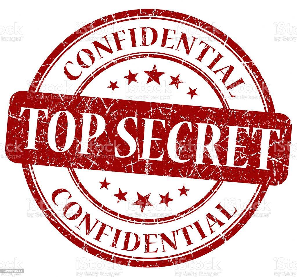 Top Secret Red stamp vector art illustration